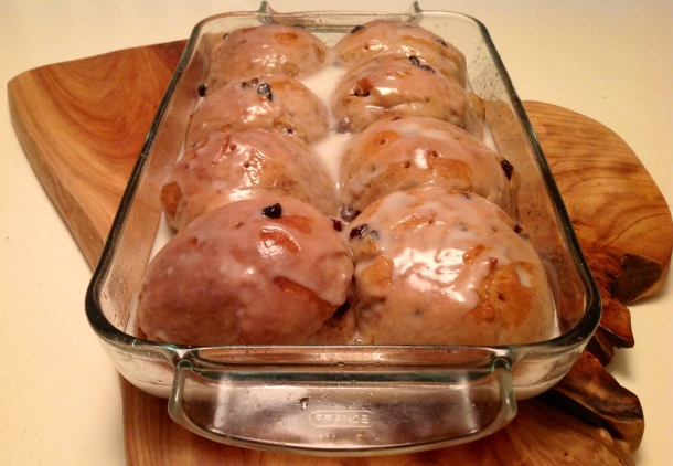 Mmmmm hot cross buns. Even the name sounds ooey-gooey delicious. Dig in!
